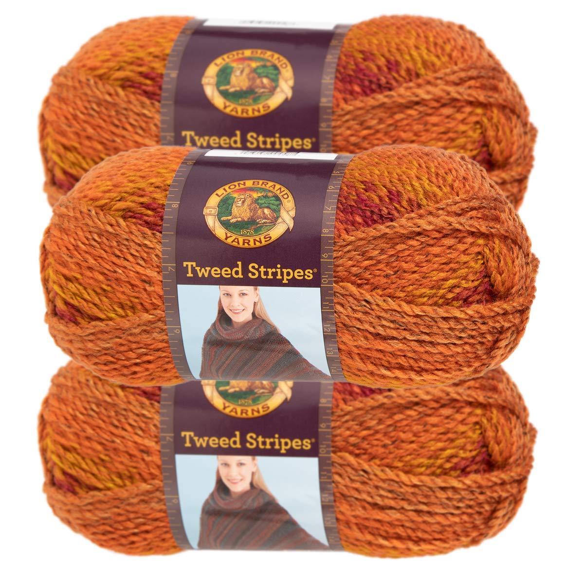 3 Pack Chunky Yarn Acrylic 100 Percent Soft Yarn for Knitting Crocheting Bulky #5 Lion Brand Yarn