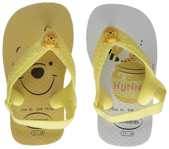 Havaianas Disney Classics II, Sandalias Unisex bebé, Blanco (White/Pollen Yellow), 21 EU (19 BR)