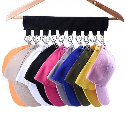 LEKUSHA Cap Organizer Hanger, 10 Baseball Cap Holder, Hat Organizer For  Closet   Change