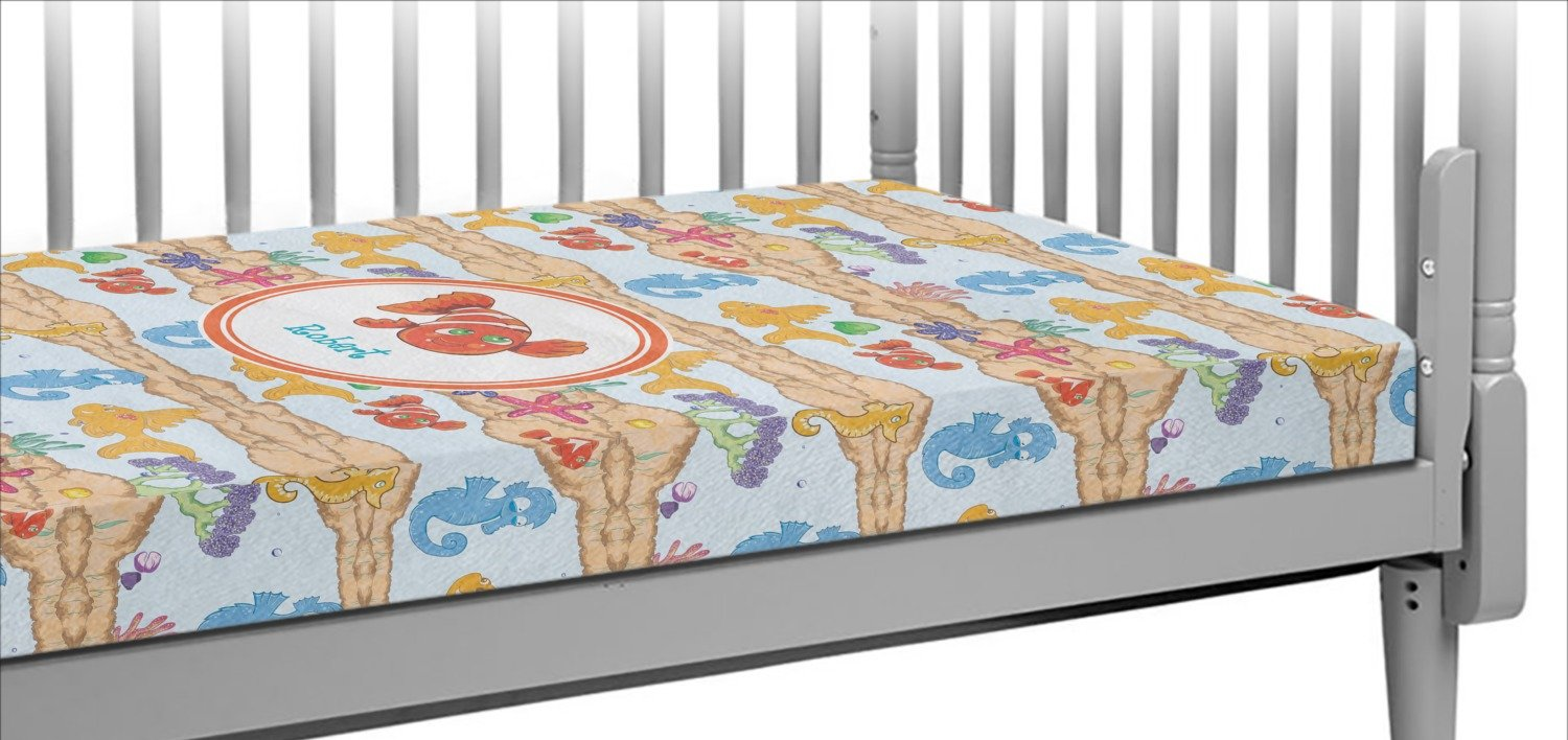 Under The Sea Crib Fitted Sheet (Personalized)