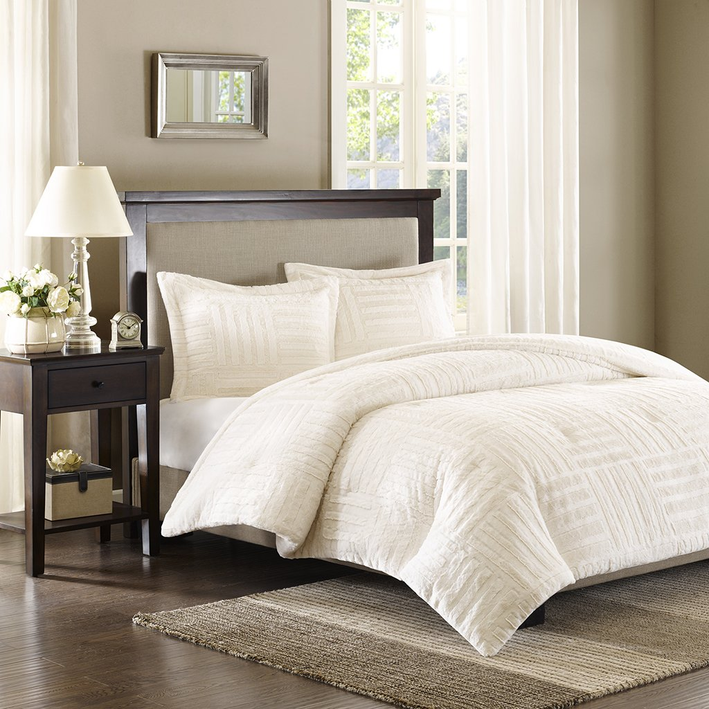 com piece dp comforter lux queen home lush ivory set decor kitchen amazon