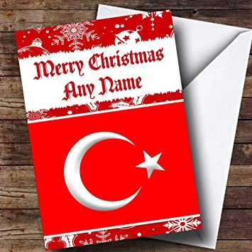 Ireland Christmas Customised Card Irish Flag