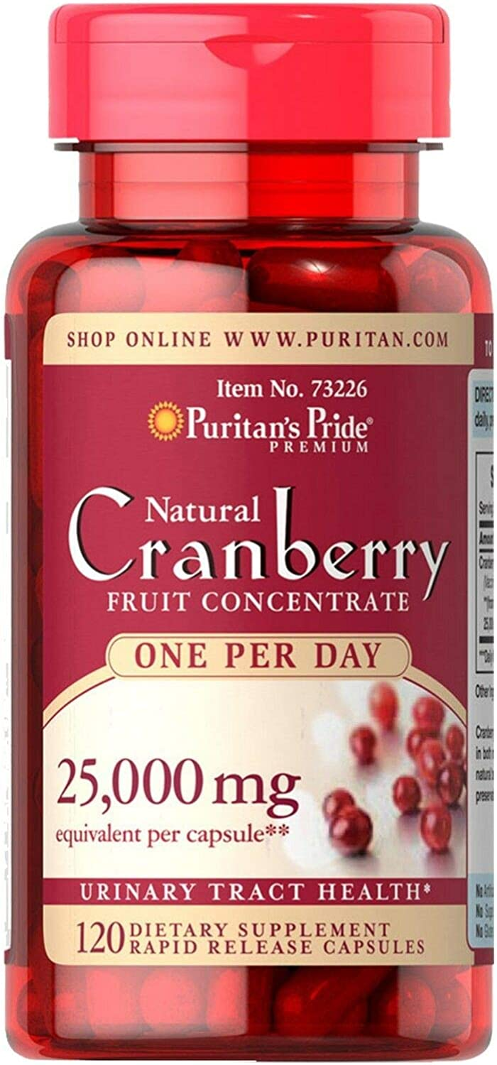 Puritan's Pride One A Day Cranberry Capsules, 120Count: Health & Personal Care