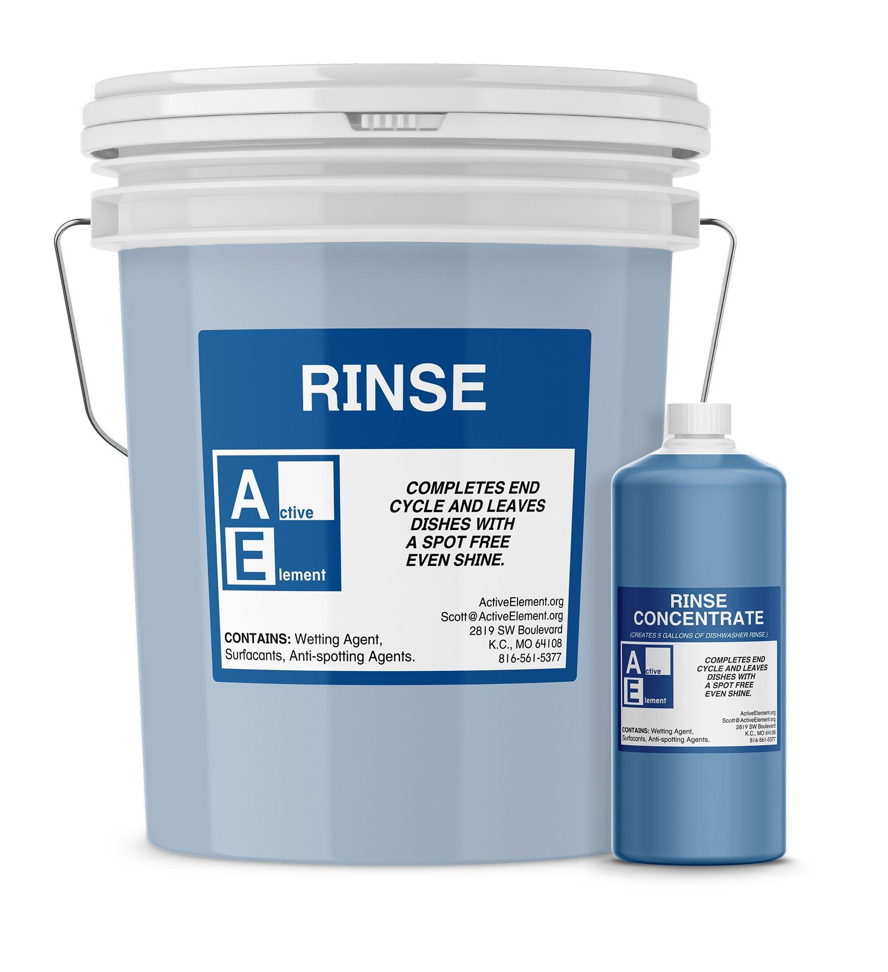 Commercial Dishwasher Rinse, Makes twelve 5-gallon pails, (12/case) by Active Element