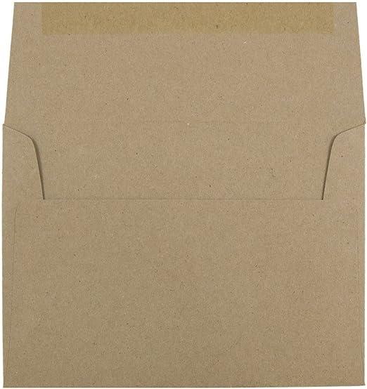 25 Brown Bag A6 Envelopes Square Flap BBE6 4 3//4 x 6 1//2 Homespun Rustic