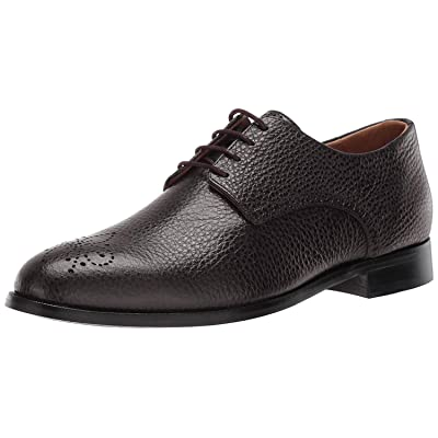 MARC JOSEPH NEW YORK Mens Leather Oxford Lace-Up Wingtip Dress Shoe, Brown Grainy, 12 M US | Oxfords