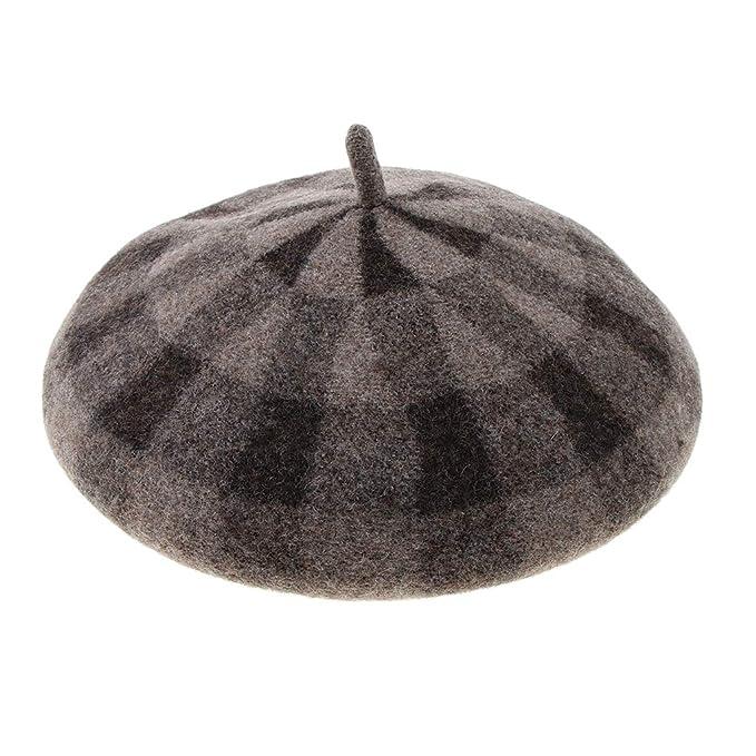 B Baosity Cappellino Pittore Francese Artista Baschetto Elegante Durevole  Per Unisex - Cammello 18a86651bdee