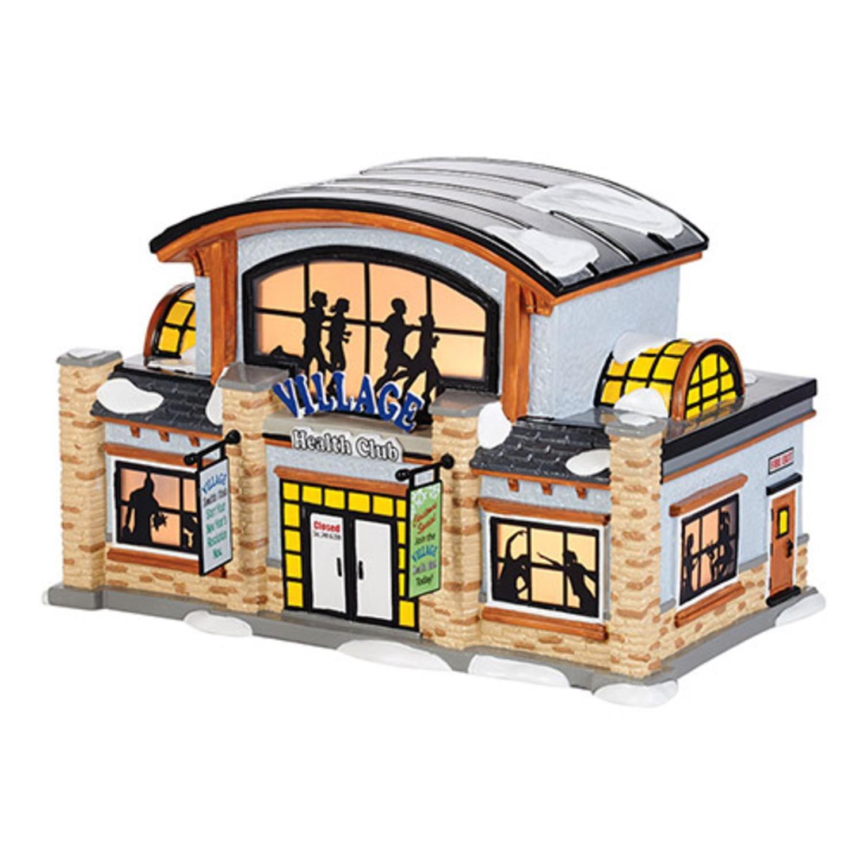 Department 56 Snow Village Health Club Ceramic Lighted Building #4036568