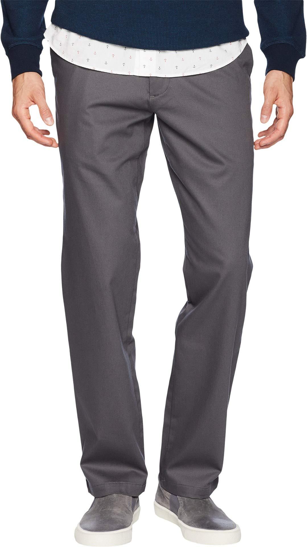 Dockers Men's Straight Fit Signature Khaki Lux Cotton Stretch Pants D2, Magnet, 38W x 29L