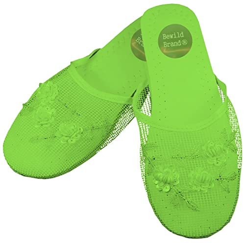 f56df50f560c Mesh Chinese Slippers (Lime Green) (Womens 6)