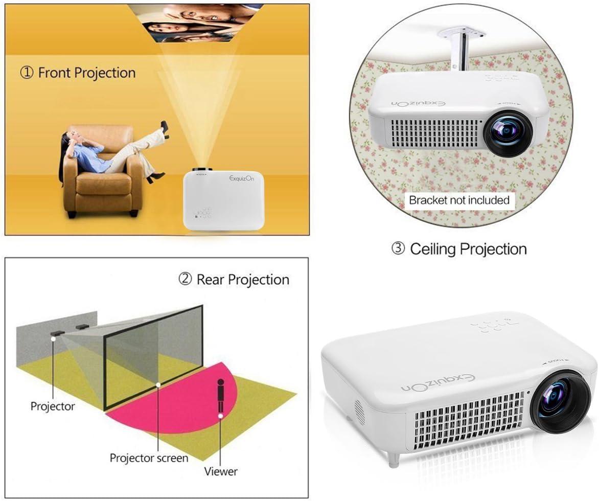 Exquizon 5018D - 3000 Lumenes Proyector LED 1280x800P (5.8
