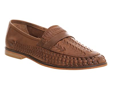 280a2ce31433c5 Top Brand Mens Bow Weave Slip On Shoes Tan Brown Leather (UK 6 ...