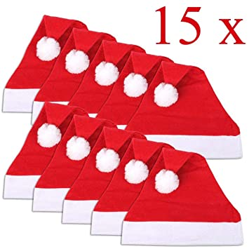 Adulti Novità Babbo Natale Cappello di Natale Fancy Dress Party Ufficio Decorazione Testa