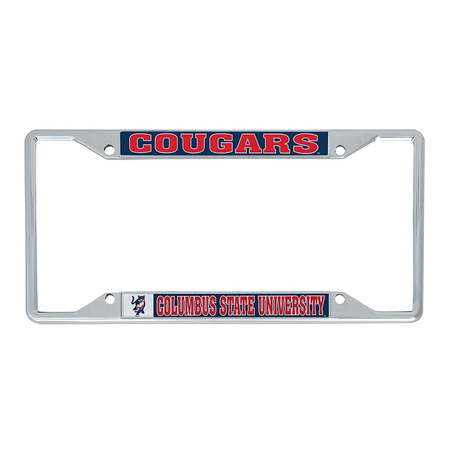Desert Cactus Columbus State University Cougars NCAA Metal License Plate Frame for Front Back of Car Officially Licensed Mascot