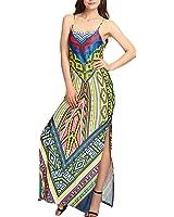Eloise Isabel Fashion mulheres spaghetti strap boho impresso dividir backless vestidos sexy clube desgaste do vintage