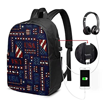 7b3cd6e40b8c Amazon.com: American Honor Words College Laptop Backpack Bag with ...