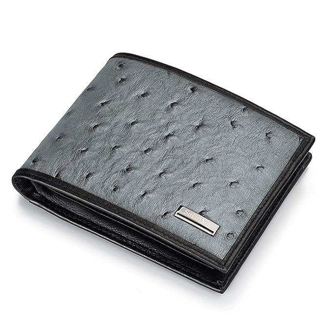 Yamyannie Crédito Tarjetas Billetera Drilling Personality Man Purse Business Bolso de Mano Bolso de Piel Mini Bag Free Lettering RFID Monedero (Style ...