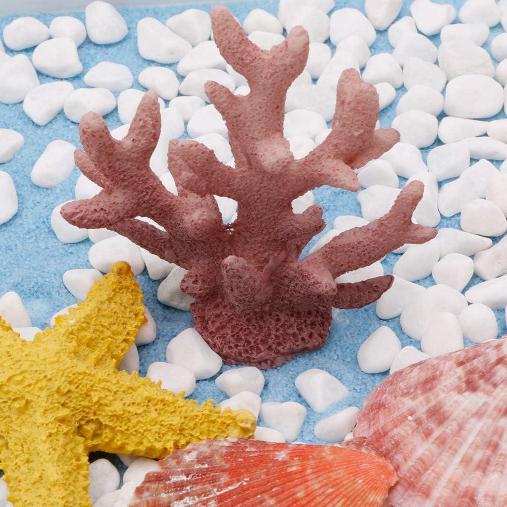 yinuiousory Aquarium Ornament Fish Tank Accessories Resin Coral Tree Artificial