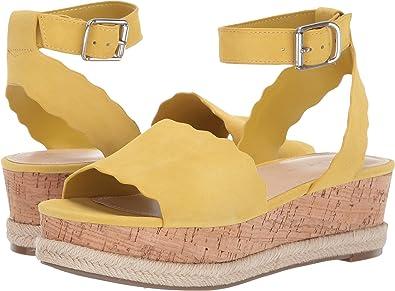bf8e1f00a9c Marc Fisher Womens Faitful Flatform ESP Leather Open Toe Casual Platform  Sand.