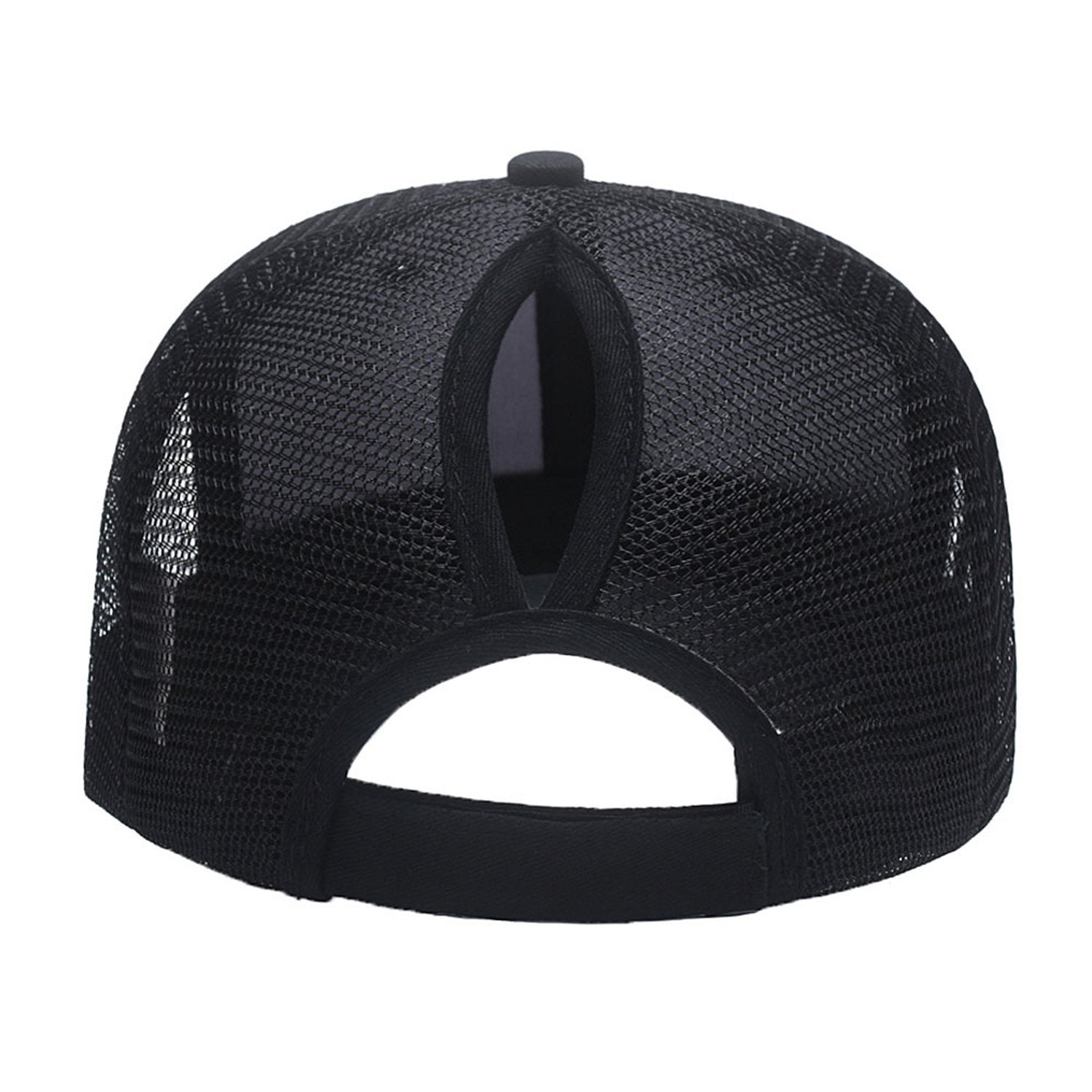 afc79a365b711 Amazon.com  Custom Mesh Trucker Hat Fashion High Ponytail Hat for Men Women  Messy Buns Hats