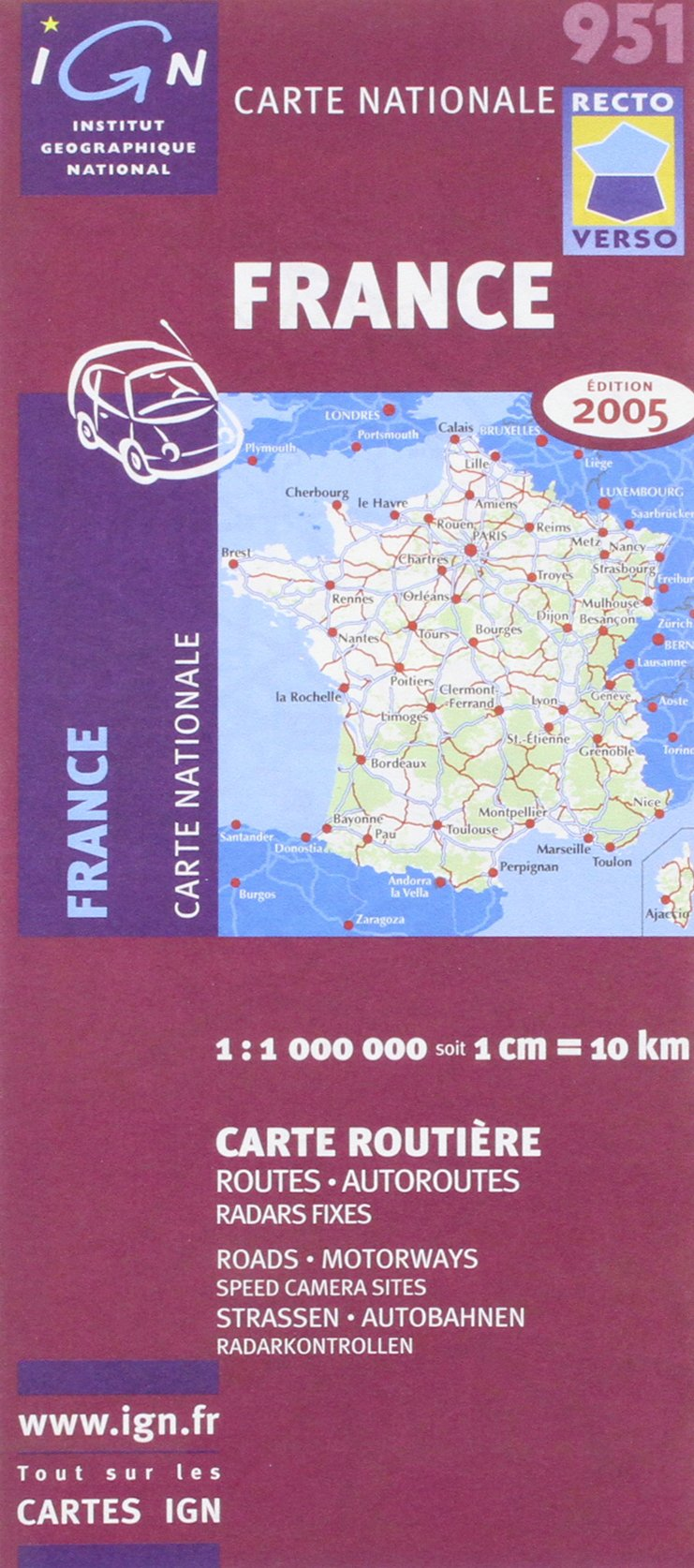 Download 951 2005: France Roads & Motorways 2005 Double - Sided (Road & Motorways) ebook