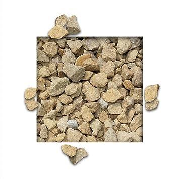 25 kg Kalksteinsplitt Gelb Gartensplitt Ziersplitt Deko Kalkstein Dekoration Splitt K/örnung 5//15 mm