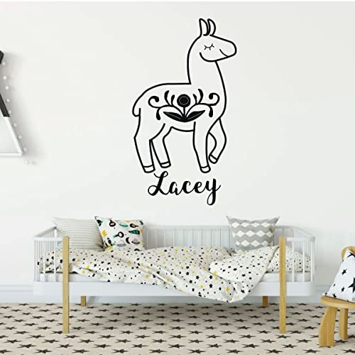 Amazon Personalized Llama Vinyl Wall Decal For Bedroom Living