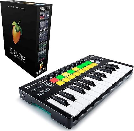 Novation Launchkey Mini 25 Mini teclado USB para Ableton Live incluido con FL Studio 20 Producer Edition [tarjeta de descarga]