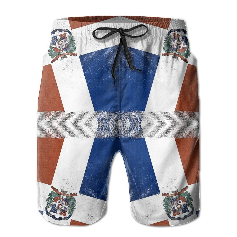 Dominican Republic Flag Summer Quick-drying Board Short Swim-trunk For Men