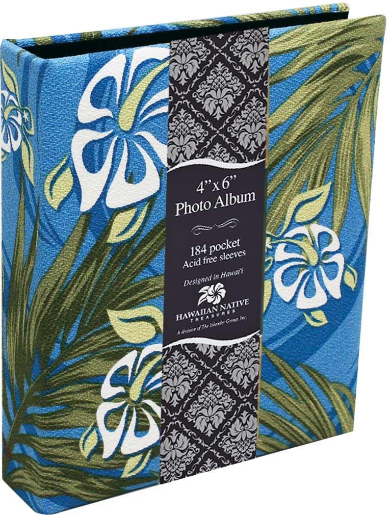 Islander Photo Album Fabric Covered 184 View Hibiscus Honu Turtle Palm