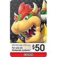 $50 Nintendo eShop Gift Card Digital Deals