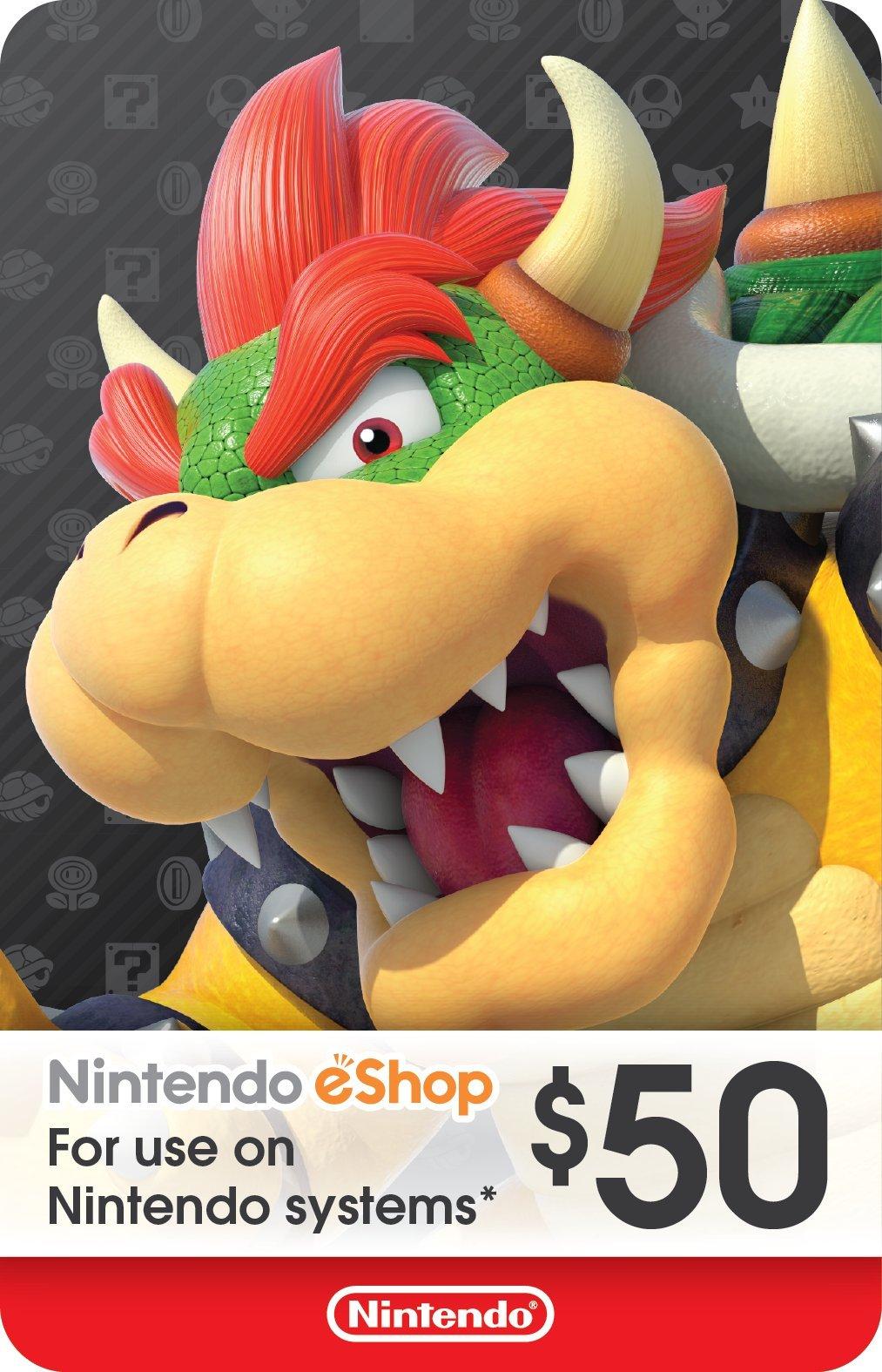 $50 Nintendo eShop Gift Card [Digital Code] by Nintendo