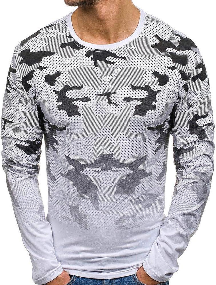 Yvelands Camisa de Manga Larga para Hombre, Camiseta de Manga Corta para Hombre Big & Tall Workwear Fit Original: Amazon.es: Ropa y accesorios