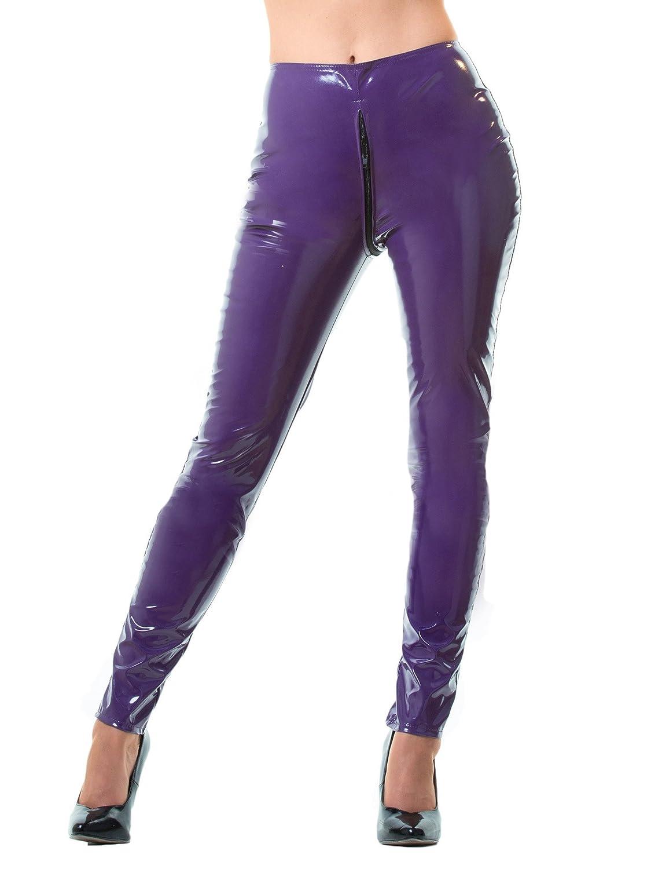Honour Women's Tight & Sexy Leggings in PVC Black Stitching