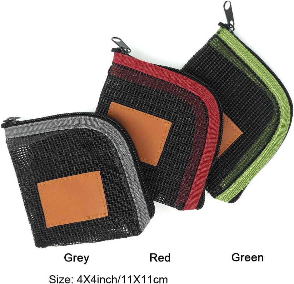 Aventik Fly Fishing Tapered Leader Wallet 5 Slots Tippet Case Net-Like Leader Tippet Storage Leader Pocket 4X4inch
