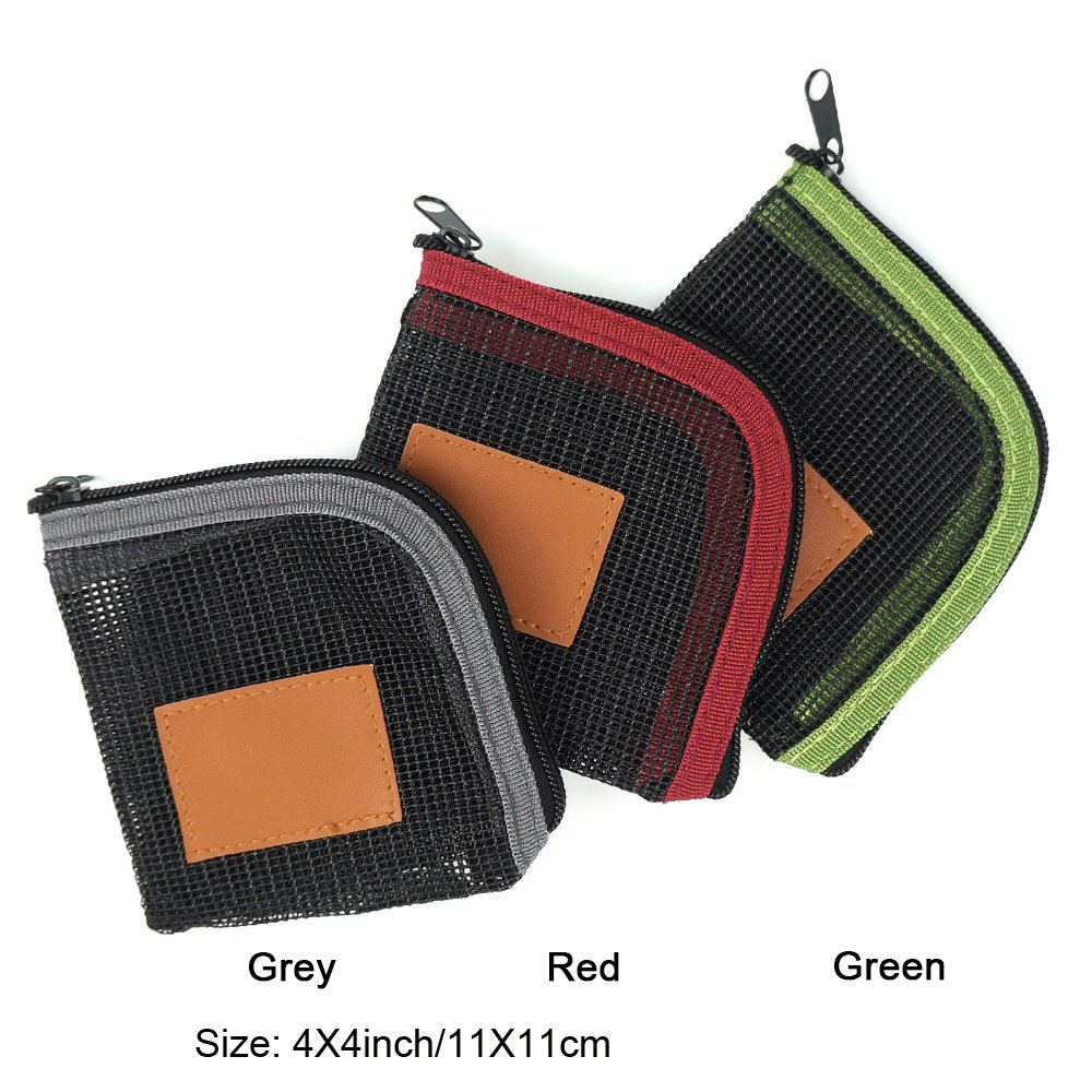 Special Sale Aventik 5 Slots Mesh Leader wallet Net-like Leader Tippet Storage Size 4.4X4.4 inch Excellent For Fishing and Fly fishing