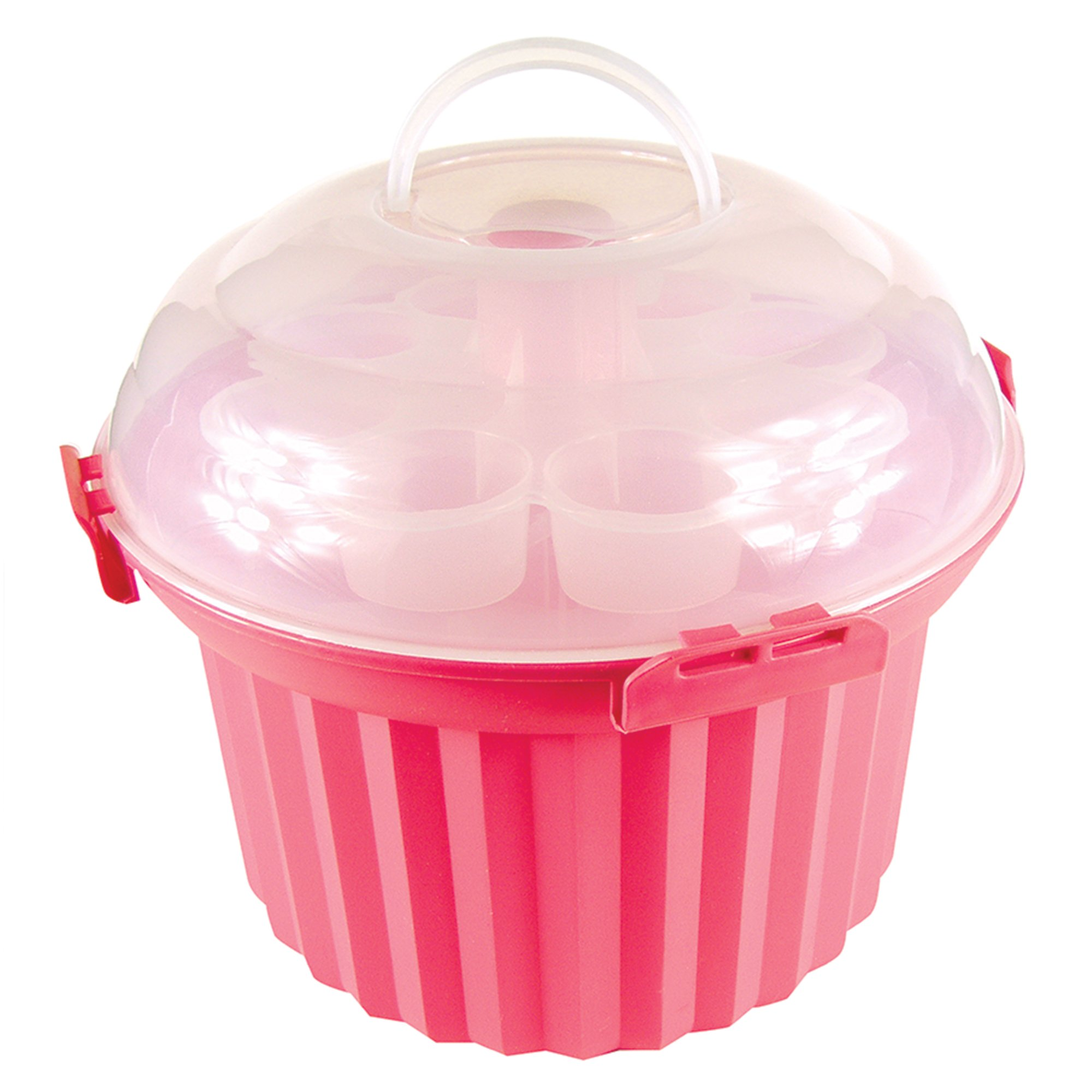 Fox Run 6973 Cupcake Carousel, Plastic, 24-Cups, Pink by Fox Run