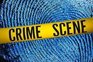 Crime Scene Tape Fingerprint Background Cool Wall Decor Art Print Poster 36x24