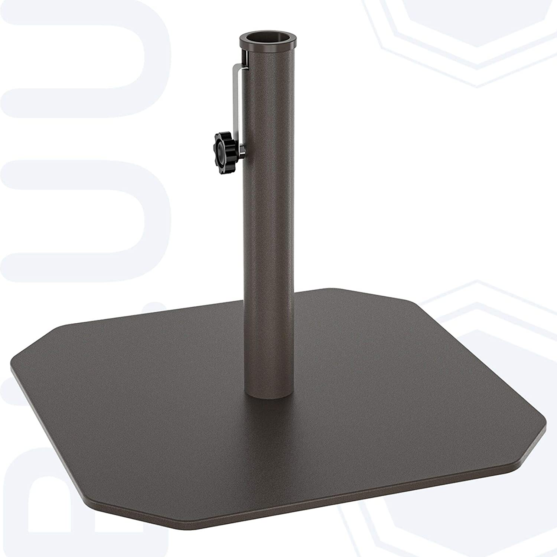BLUU All-Iron Umbrella Weight Base Heavy Duty Outdoor Patio Market Table Umbrella Weights Outdoor Umbrella Base Stand, Rust Free, 26 Lbs, Dark Brown