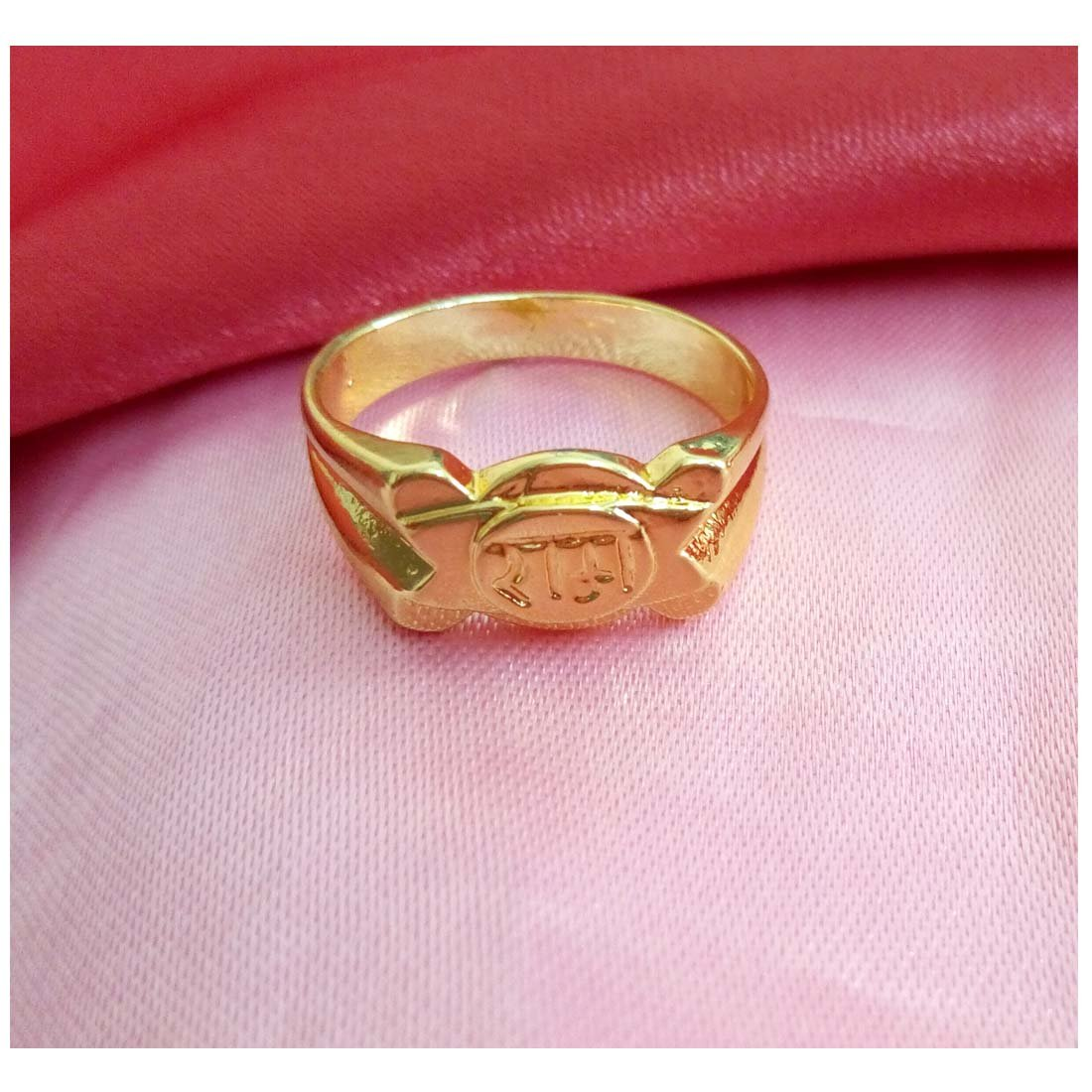 Gold Plated Ring Ram Design By RICH AND FAMOUS (12): Amazon.in ...