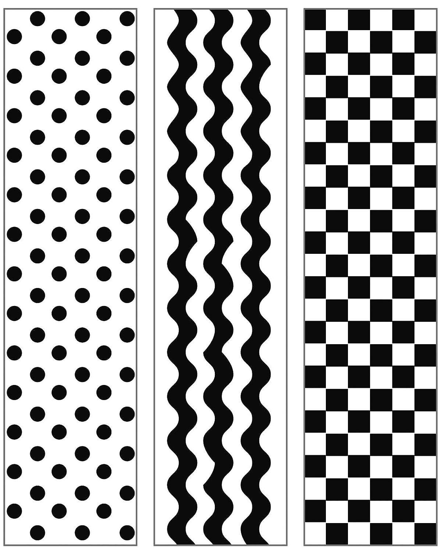 Darice 1217-77 Embossing Folder, Simple Patterns Design, 3/Pack