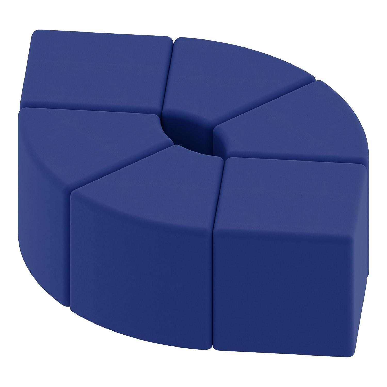 18 H SPG-1002BL-A 18 H Blue Sprogs Vinyl Soft Seating Teardrop Stool//Bench