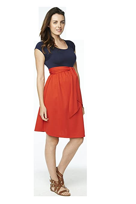 Maternal America Womens Maternity Front Tie Dress at Amazon Womens Clothing store: Maternity Nursing Dresses