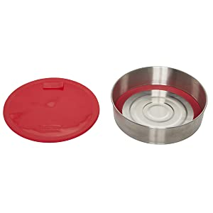 Instant Pot 5252084 Official Round Cook/Bake Pan with Lid, Removable Base & Removable Divider, 7-inch, Red