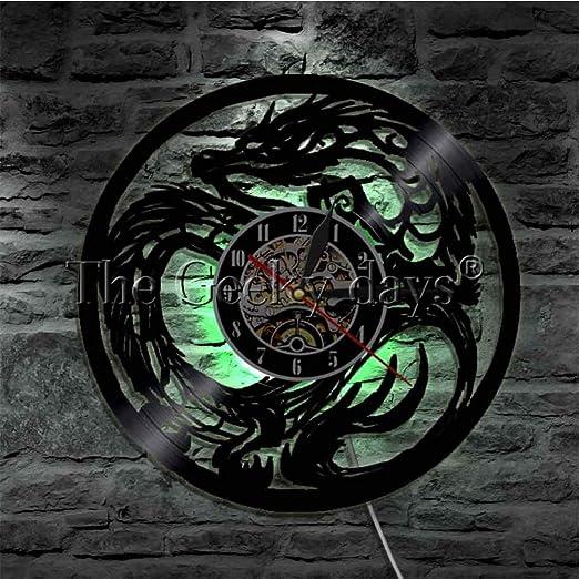 Disco de pared de vinilo Reloj de pared Tatuaje Maestro Arte de la ...