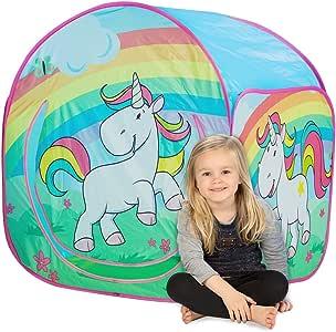 John-78807 Tienda de campaña Infantil con diseño de Unicornio (78807): Amazon.es: Juguetes y juegos