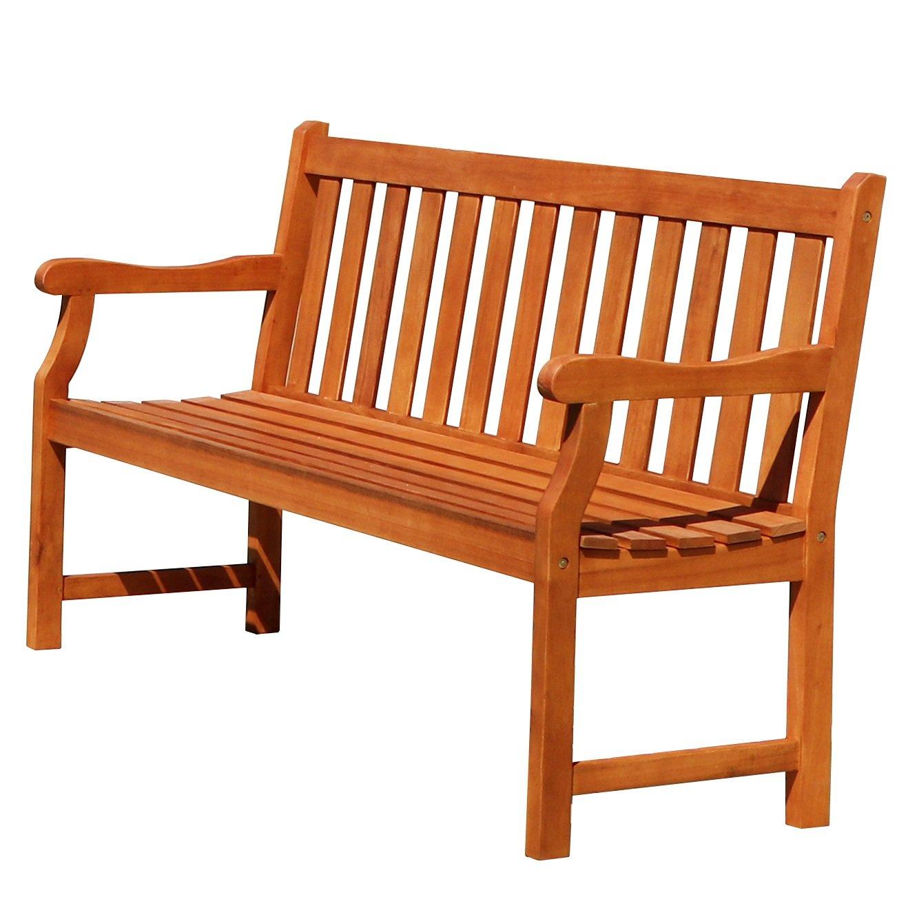 Vifah V023-1 Baltic 5' Outdoor Wood Garden Bench
