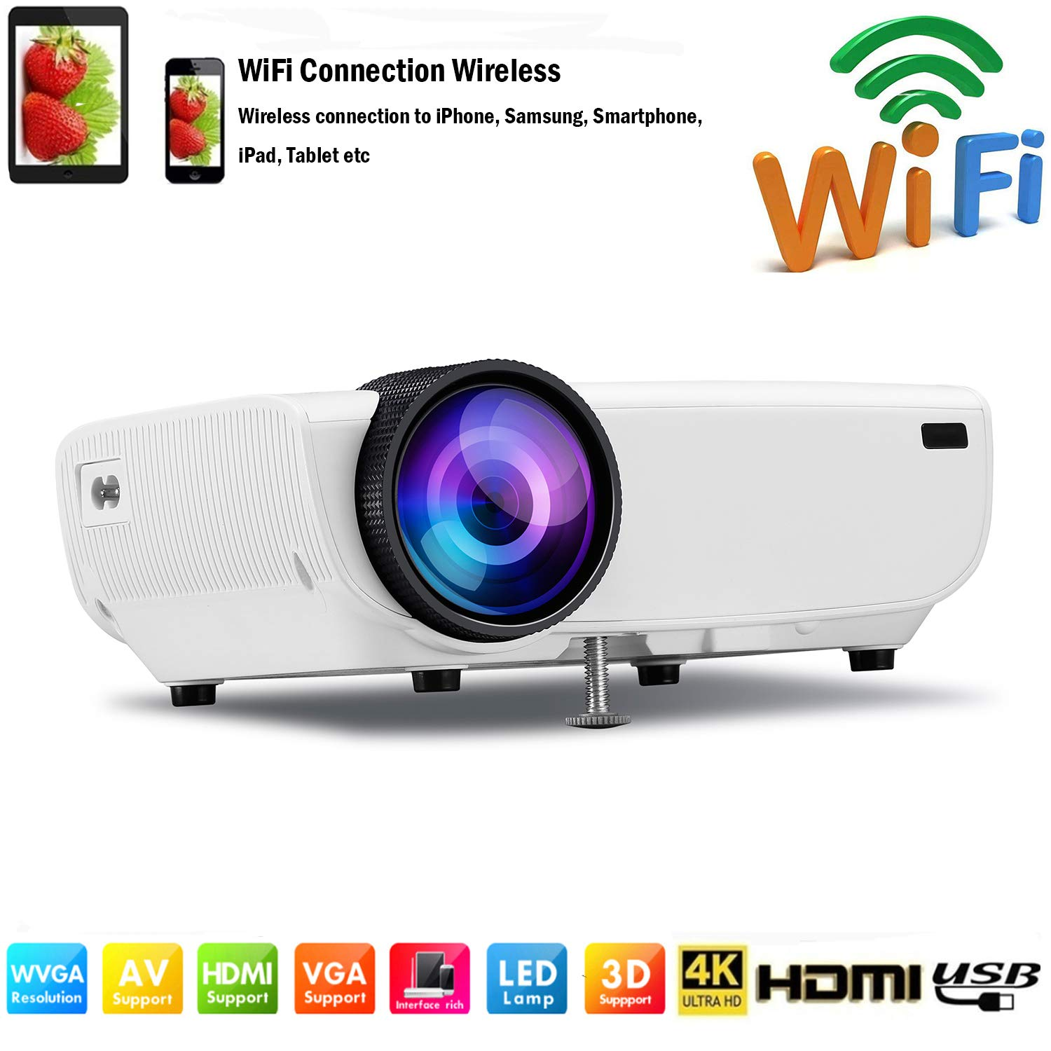 Amazon.com: SOTEFE Mini LED Projector Portable 4000 Lumens ...