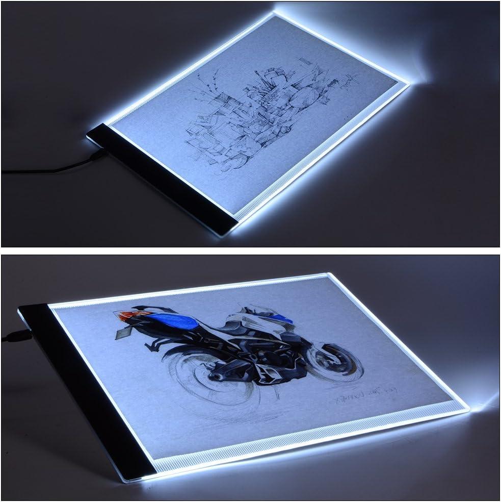 XC Pa/ño de limpieza Pinza azul AH210 XCSOURCE/®Artista Ultra-delgada A4 LED Art Display Tablero de dibujo Plantilla Caja de luz de B/úsquedas Tabla tatto ZH080