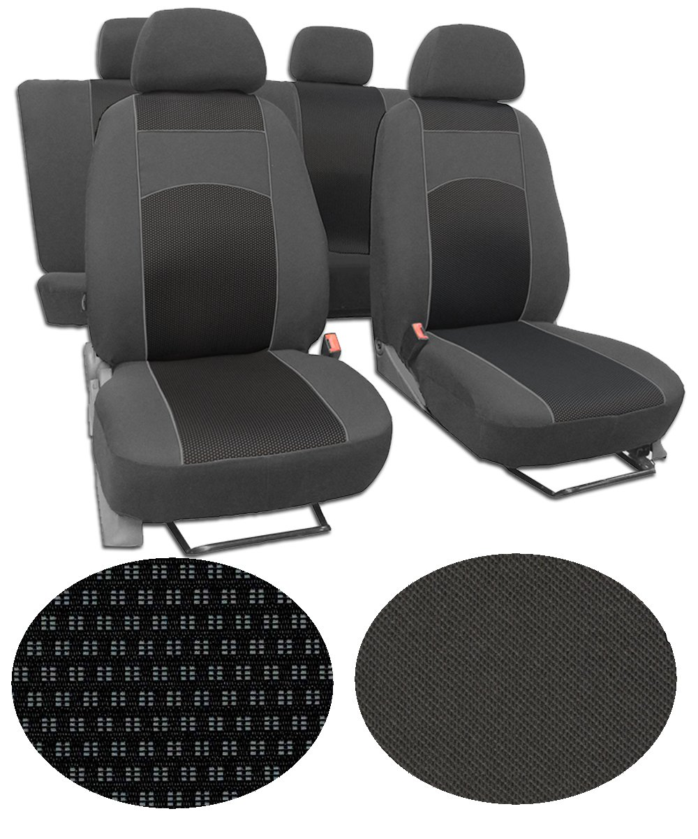 Extra Langlebig im Design VIP-2 EJP Sitzbez/üge f/ür Ford Transit Custom 8-Sitze Super Qualit/ät